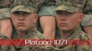 usmc boot camp platoon 1071 cadence chant