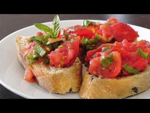 simple-bruschetta:-tomato,-basil-recipe