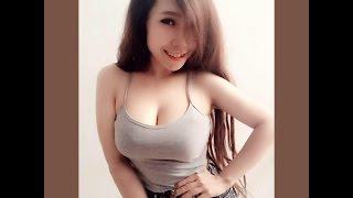 Pretty girls take a selfie huge breasts