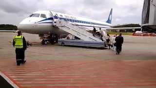 Minsk National Airport Belarus fly to Prague on board Embraer 195 by Belavia 31.5.2014