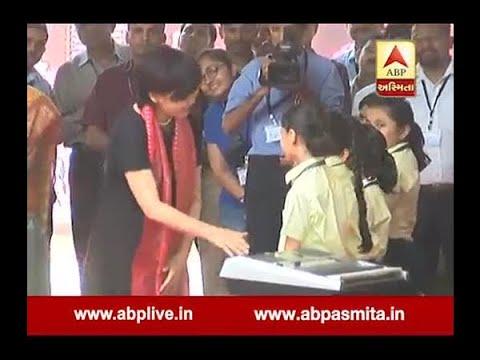 Akie Abe Meet StudentS At Gujarat University