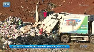 Veja como descartar o lixo corretamente