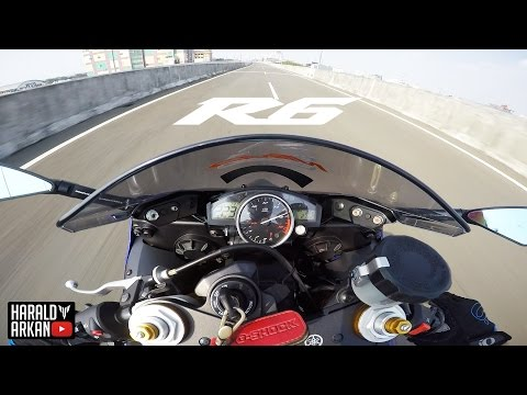 YAMAHA R6 Top Speed Test 223km/h! Jakarta, Indonesia