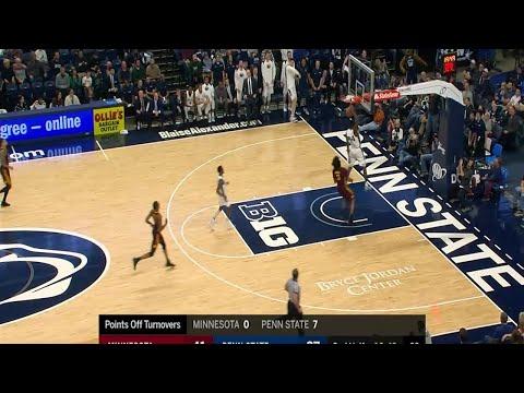 Big Ten Basketball Highlights: Minnesota at Penn State