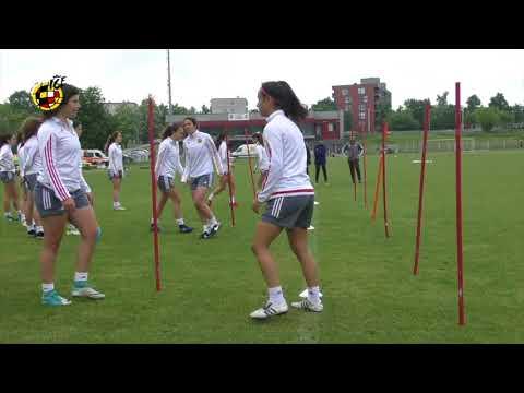 Entrenamiento de la Selección Española Sub 17 Femenina, Previo a la Semifinal ante Finlandia