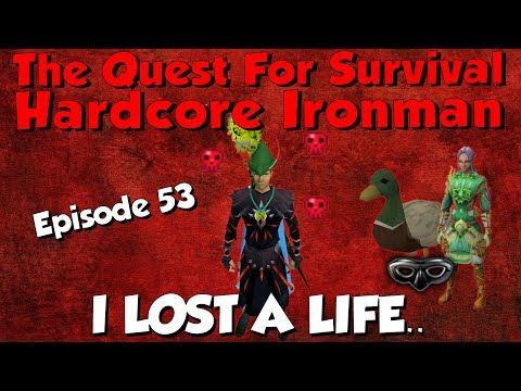 Hardcore Ironman! I lost a Life.. [Runescape 3] Episode #53