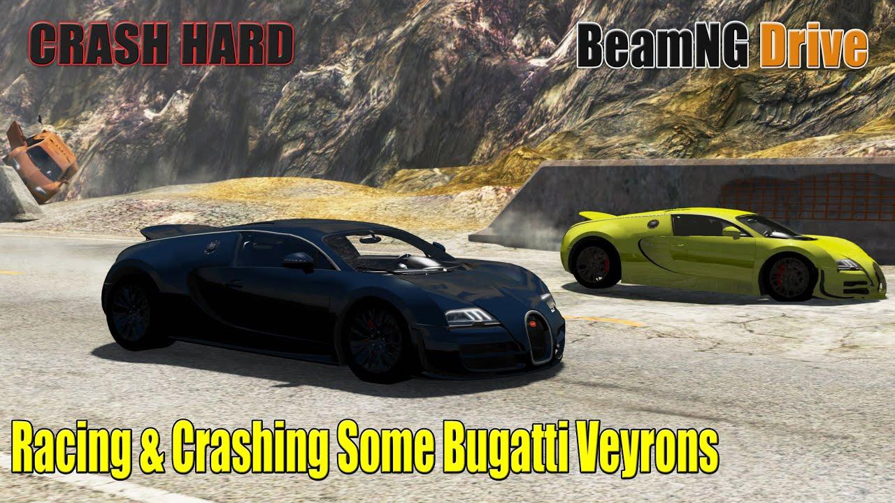 BeamNG Drive - Racing & Crashing Some Bugatti Veyrons