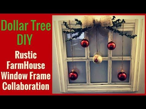 Dollar Tree DIY   Rustic Farmhouse Collab   Dollar Tree Picture Frames   Window Frame
