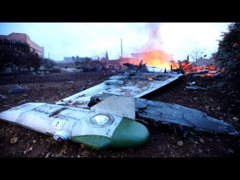 Images of the Russian plane downed in Syria