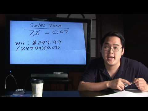 Math In Daily Life : How To Calculate Sales Taxes