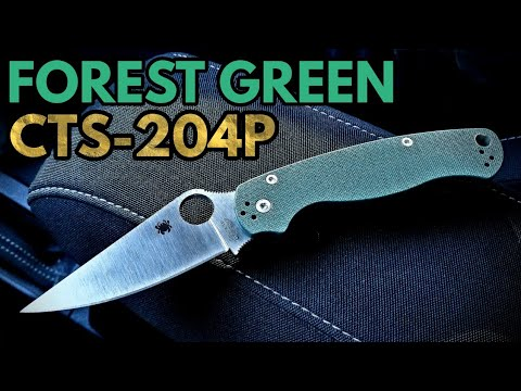 Knifeworks Exclusive Spyderco PM2 Forest Green / CTS - 204P - Overview
