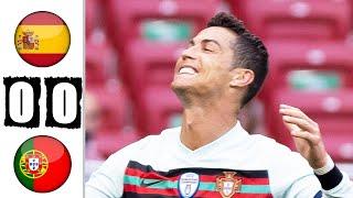 Испания Португалия 0 0 Обзор Товарищеского Матча 04 06 2021 HD