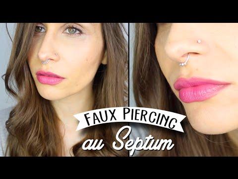 Faux piercing septum perles