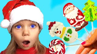 Vitalina life Pretend Play Delivering Presents on Christmas Morning with Santa