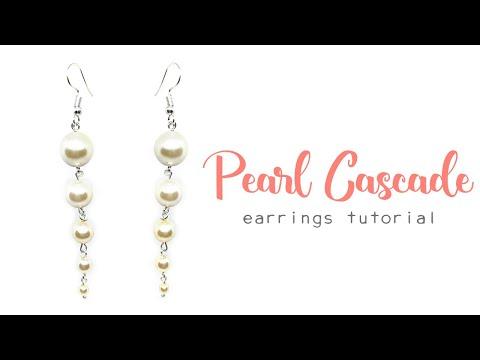 Pearl Cascade Earrings - Jewellery Making Tutorial