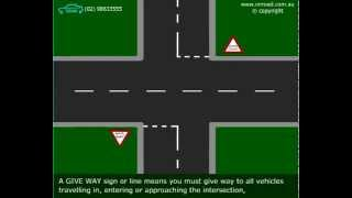 Stop And Give Way Signs - Animated Driving Video From Onroad