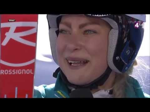 FIS World Championships Combined - Ragnhild Mowinckel interview (France 4)