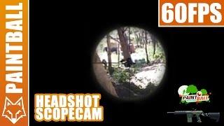 Paintball sniper - Headshot + SCOPECAM - France
