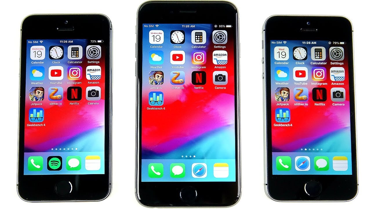 iphone 5s vs se speed test