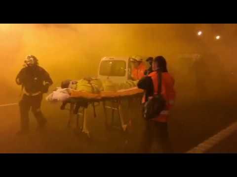 El túnel de Pedrafita, en la Autovía A-6, escenario para un simulacro de incendio