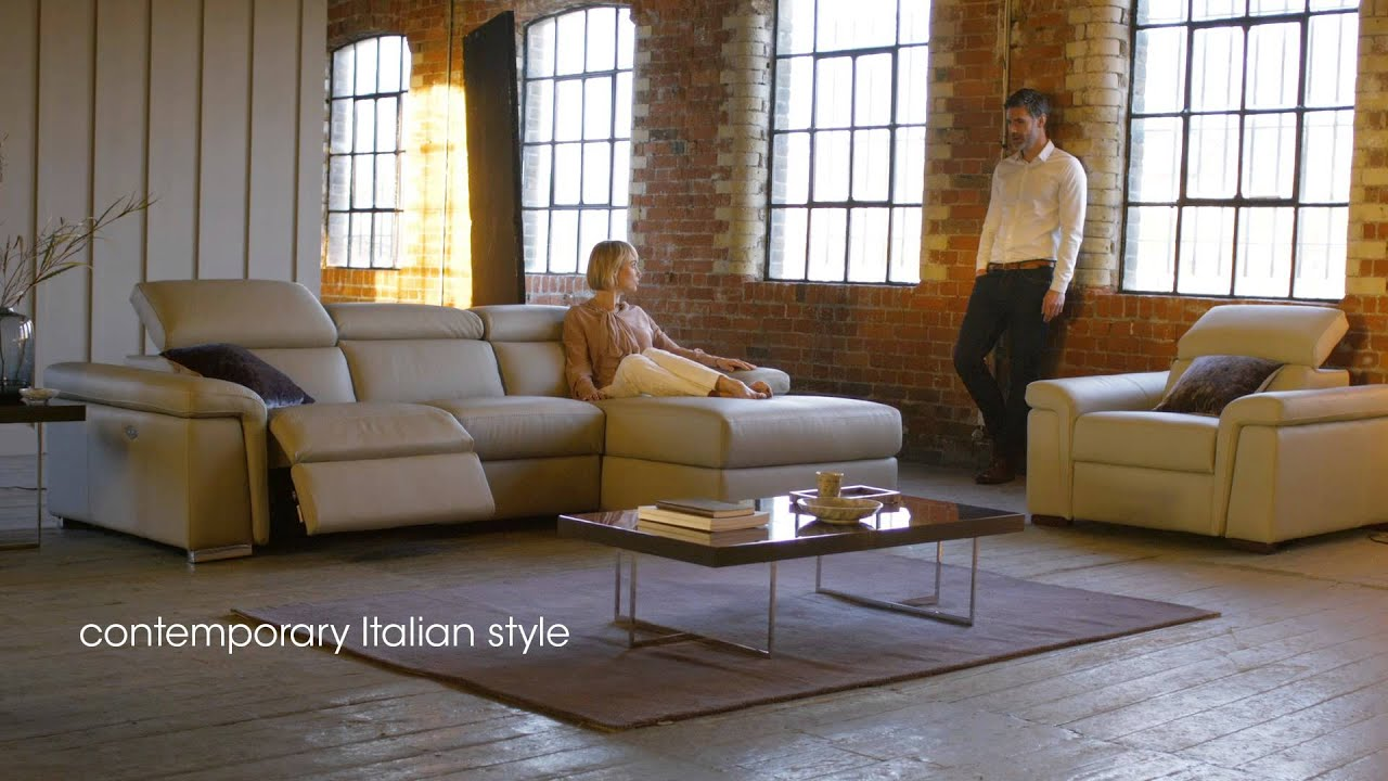 Fine Italian Chaise Sofa Vinci By Giuseppe Nicoletti Furniture Village