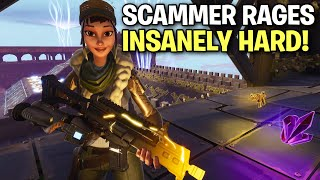 Scammer goes insane after losing his guns! 🤣 (Scammer Get Scammed) Fortnite Save The World