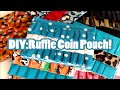 DIY:Duct Tape Ruffle Coin Pouch! (: