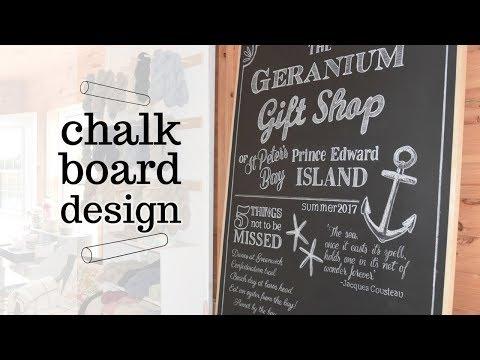 How I Create Professional Chalkboard Art