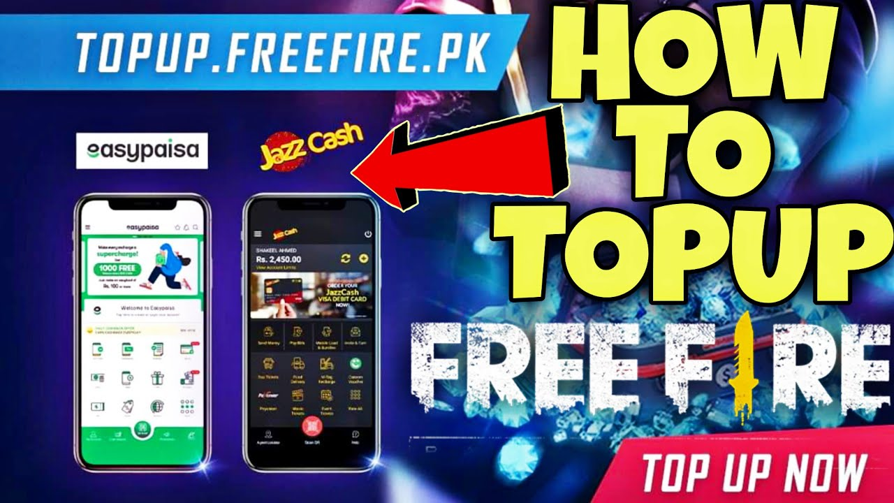 How To Top Up Diamonds In Free Fire Topup With Easypaisa App And Jazzcash Free Fire Topup Youtube