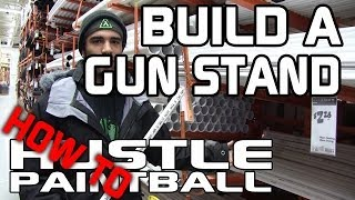How To Make A Paintball Gun Stand For Yourself Or Your Team By Hustlepaintball.com