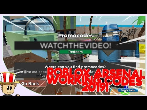 ALL WORKING ARSENAL CODES!   ROBLOX JUNE 2019
