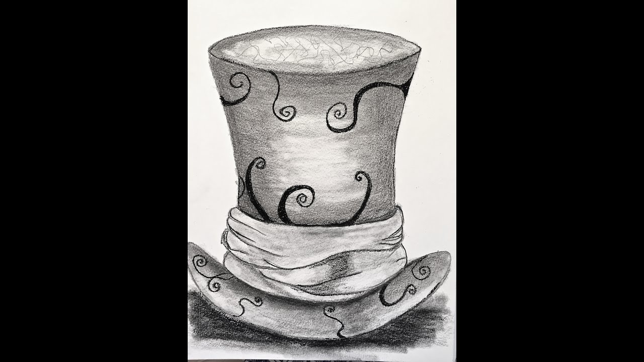 Drawing The Mad Hatter Hat A Sneak Peek To An Online Class
