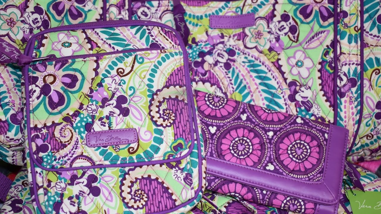 Huge Disney Vera Bradley Collection in Plums Up Mickey and Review ... 7c227b6f8e