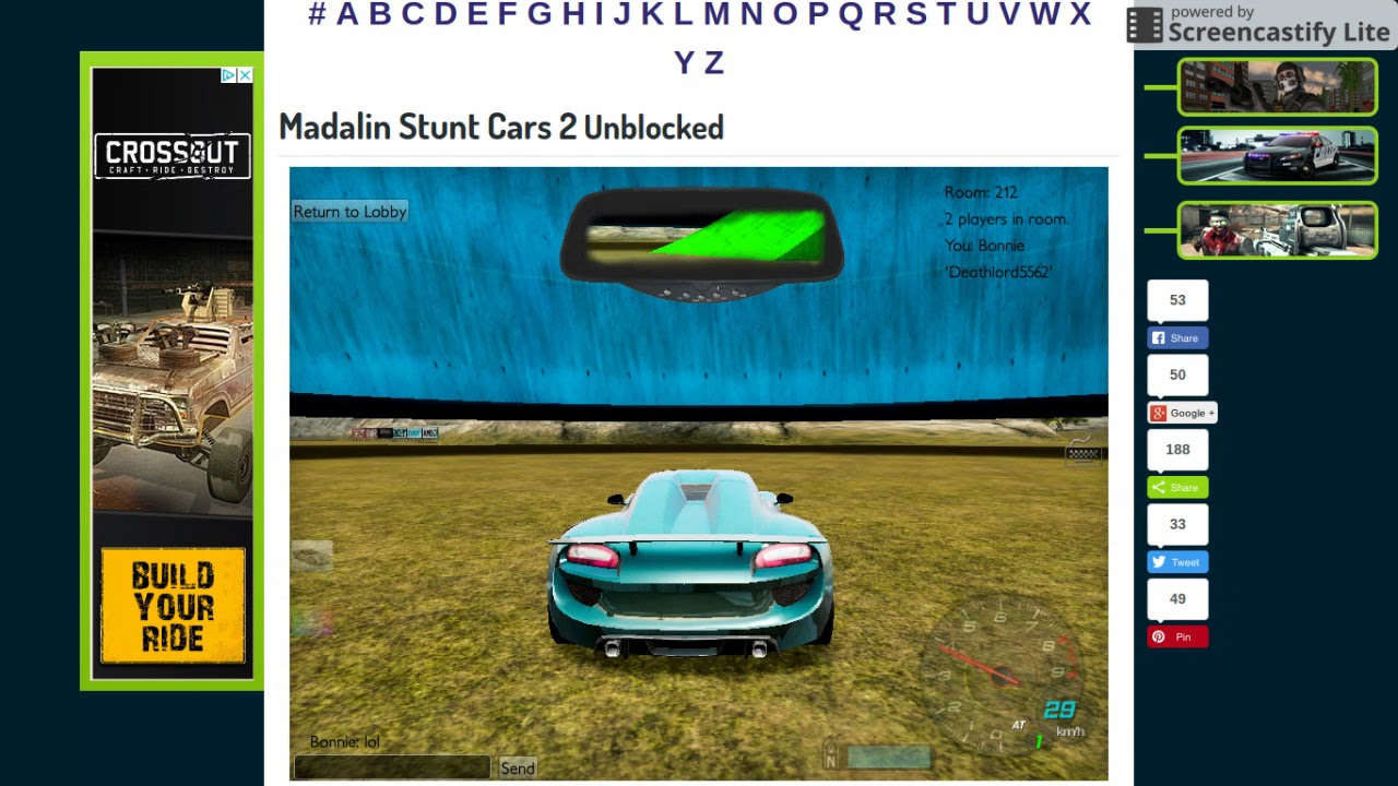 Madalin Stunt Cars 2 Unblocked I Was Playing With Deathlord Youtube