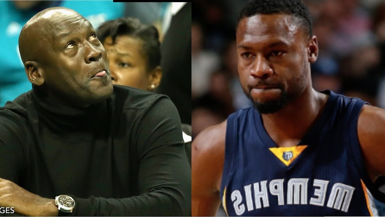 Michael Jordan Dies Laughing After Tony Allen Stares Him Down - YouTube