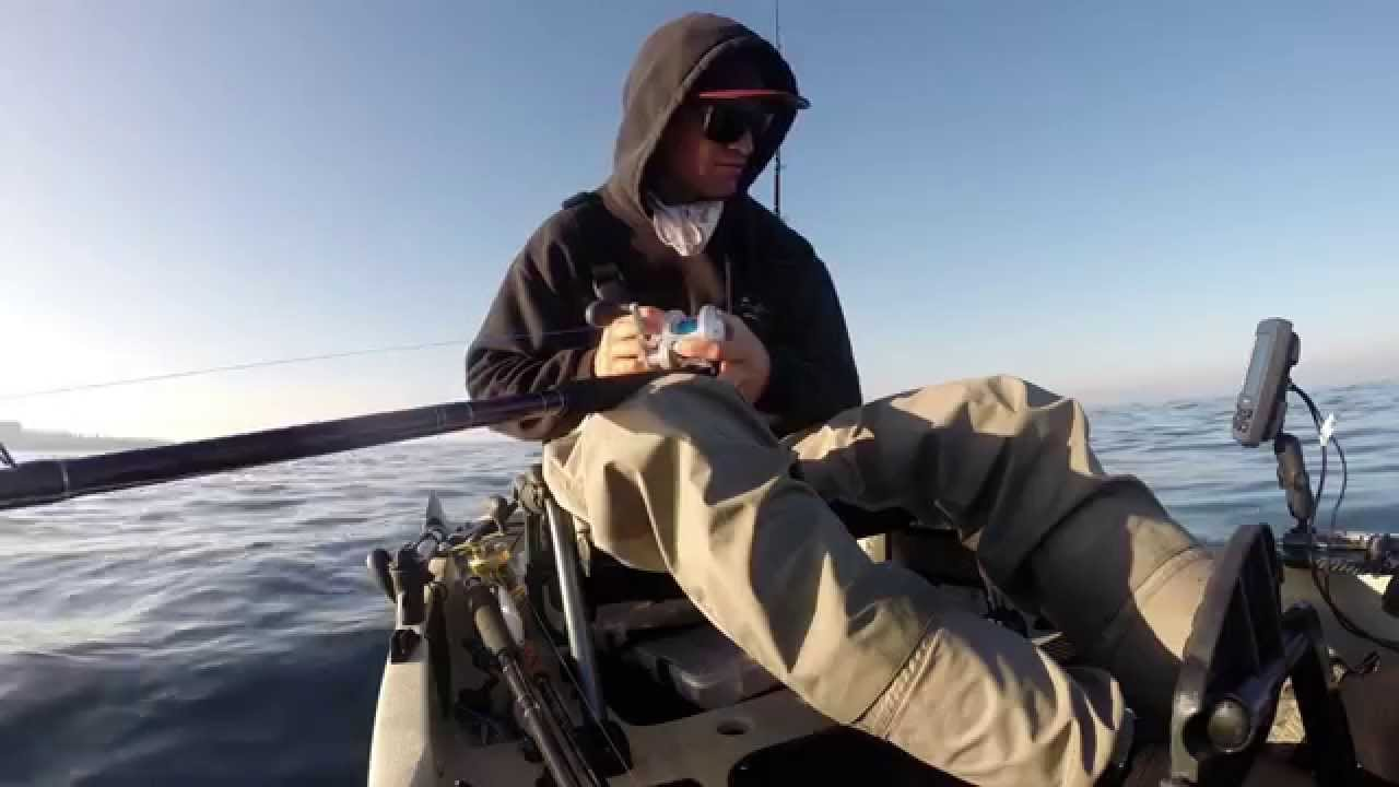 Kayak fishing la jolla ca for yellowtail 2015 youtube for Kayak fishing louisiana