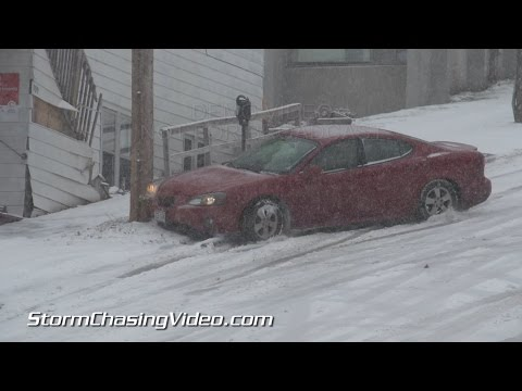 11/10/2014 Duluth MN  Car's Crashing In the Winter Storm