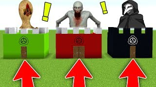 DO NOT CHOOSE THE WRONG SCP BASE in MINECRAFT! (SCP 173, SCP 096, SCP 049)