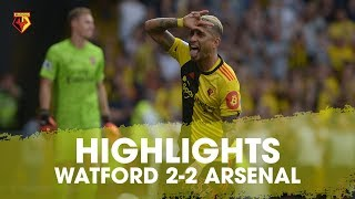 hIGHLIGHTS  WATFORD 2-2 ARSENAL