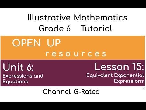 "Illustrative Mathematics: Unit 6, Lesson 15 ""Equivalent Exponential Expressions"" thumbnail"