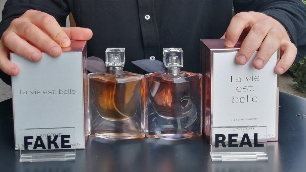 Fake vs Real La Vie Est Belle Lancôme Perfume 75 ml - YouTube