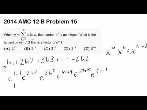 2014 AMC 12 B Problem 15 (Natural Log, Summation)