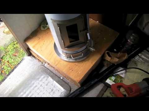 How To Install A Kimberly Wood Stove In A Motorhome Youtube