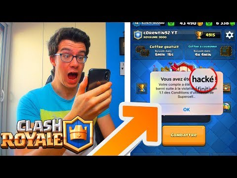Clash royale JE ME FAIS HACKER EN PLEINE VIDEO !