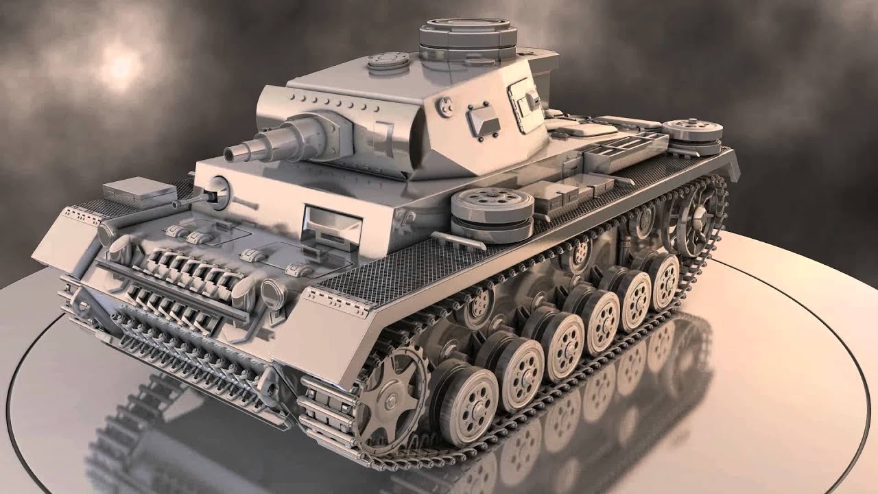 Tank d model turntable animation youtube