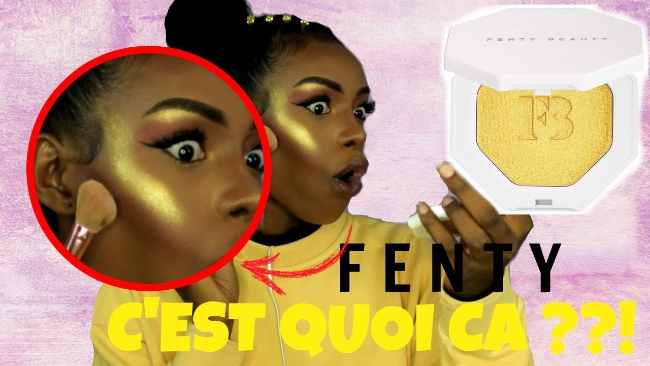 fenty beauty c 39 est quoi ce highlight trop jaune sweetvicky youtube. Black Bedroom Furniture Sets. Home Design Ideas