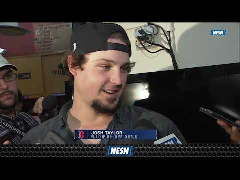 Red Sox Pitcher Josh Taylor On Team's Walk-Off Win