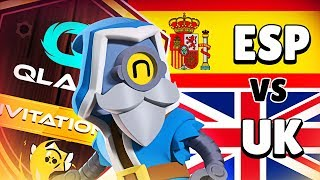 TEAM ESPAÑA (Alvaro845) vs TEAM UK (Ark) | Qlash Brawl Stars Invitational | QBI #1