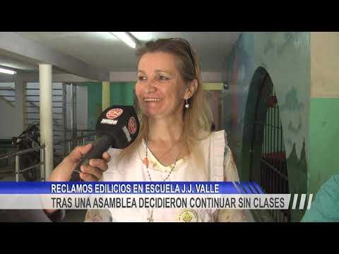 """Continúan suspendidas las clases en la Escuela N° 74 """" J. J. Valle"""