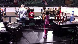 Ruby Twister aka Makena Kerns sings the Star Spangled Banner at Battle on the Bank V